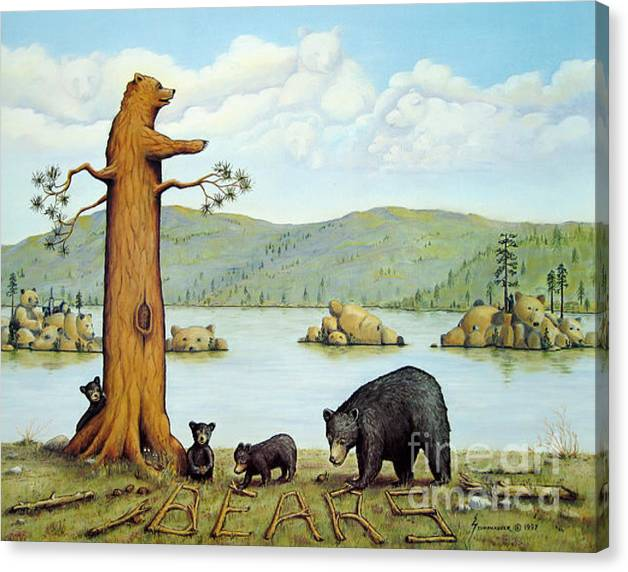 Limited Time Promotion: 27 Bears Stretched Canvas Print