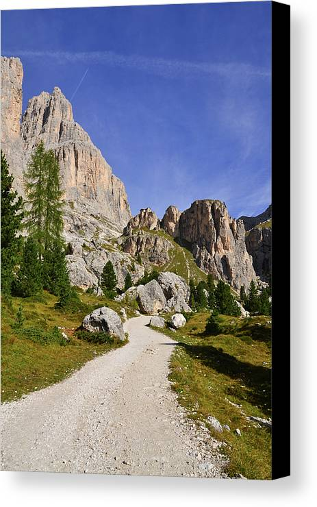 Vertical Canvas Print featuring the photograph Mountain Road by Nicolas Emery