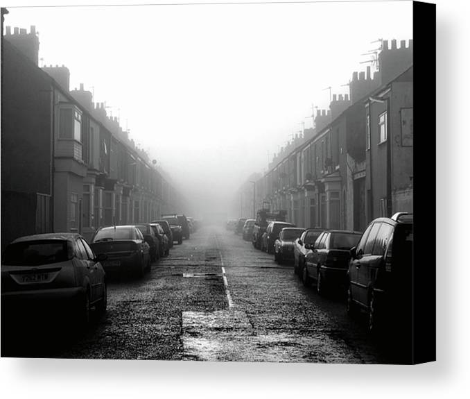Horizontal Canvas Print featuring the photograph Foggy Terrace by Paul Downing