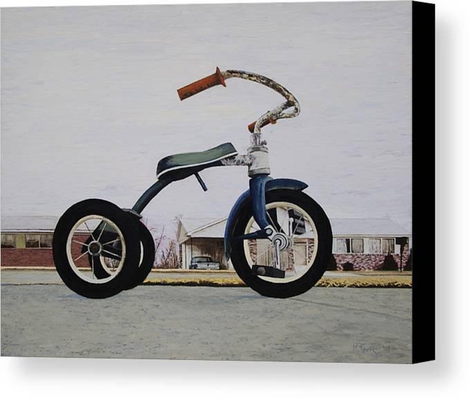 Tricycle Canvas Print featuring the painting Geare by Nate