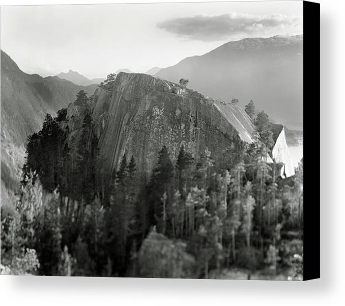 Horizontal Canvas Print featuring the photograph Stawamus Chief, Squamish, British Columbia, Canada, Tilt-shift by Brian Caissie