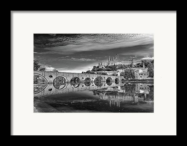 Horizontal Framed Print featuring the photograph Beziers Cathedral by Photograph by Paul Atkinson