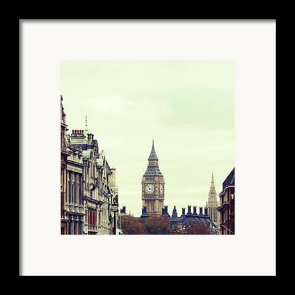 Square Framed Print featuring the photograph Big Ben As Seen From Trafalgar Square, London by Image - Natasha Maiolo