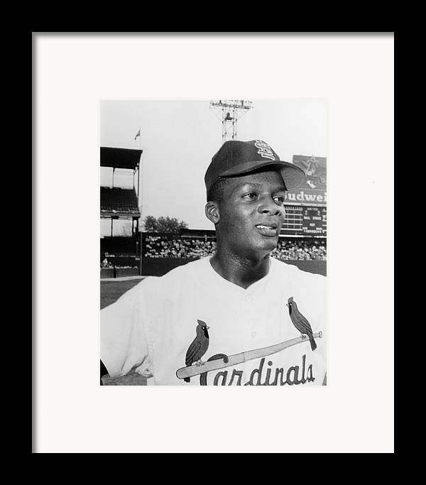 1959 Framed Print featuring the photograph Curt Flood (1938- ) by Granger