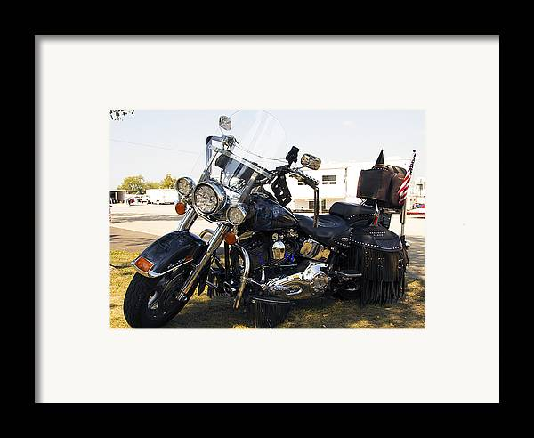 Antique Cars Framed Print featuring the photograph Harley Classic by Elizabeth Chevalier