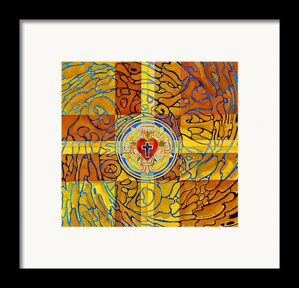 Christian Framed Print featuring the painting Psychedelic Rose by Mark Jennings
