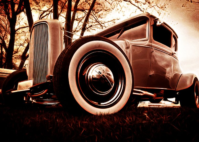 Street Rod Greeting Card featuring the photograph 1930 Ford Model A by Phil 'motography' Clark