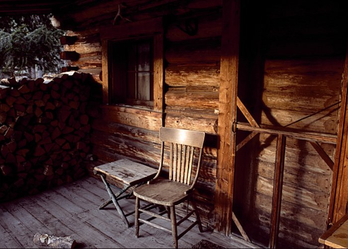 Outdoors Greeting Card featuring the photograph Firewood And A Chair On The Porch by Joel Sartore