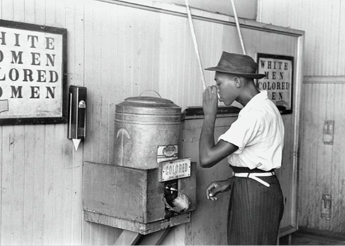 1939 Greeting Card featuring the photograph Jim Crow Laws 1939 by Granger