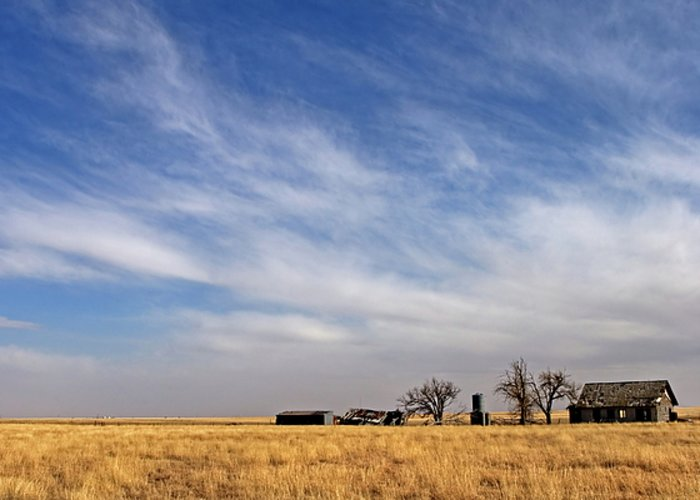 Landscape Greeting Card featuring the photograph Prarie House by Peter Tellone
