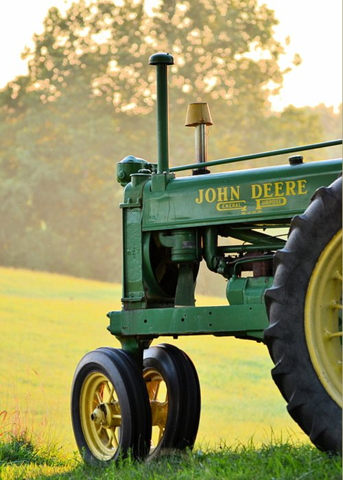 John Deere Greeting Card featuring the photograph Resting by JD Grimes