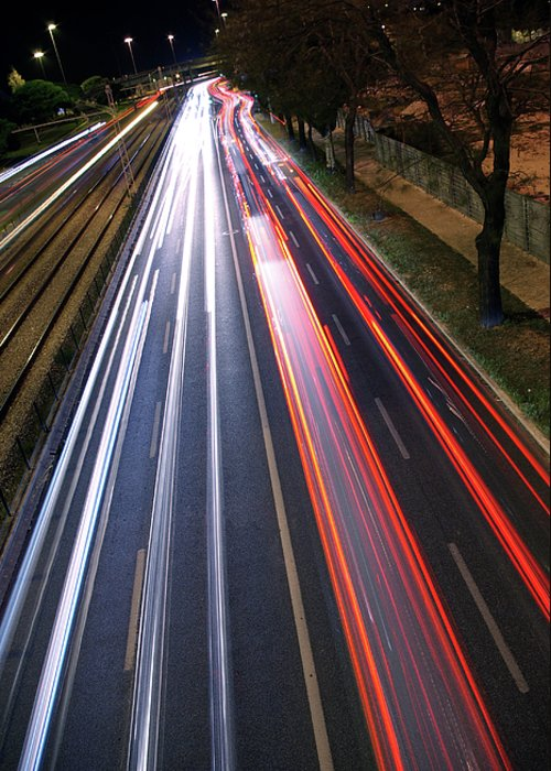 Asphalt Greeting Card featuring the photograph Traffic Lights by Carlos Caetano
