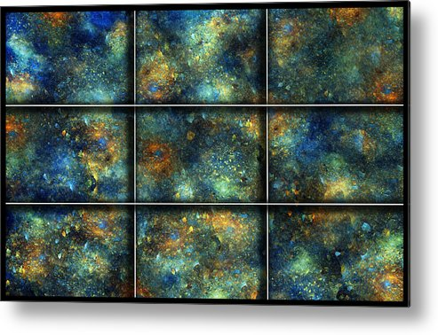 Star Metal Print featuring the digital art Galaxies II by Betsy Knapp