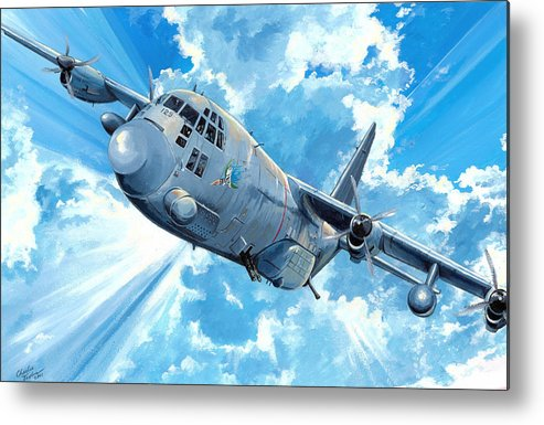 Air Force Metal Print featuring the painting First Lady by Charles Taylor