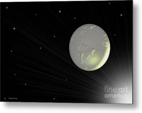 Abstract Metal Print featuring the photograph Future Earth 2 by Cheryl Young