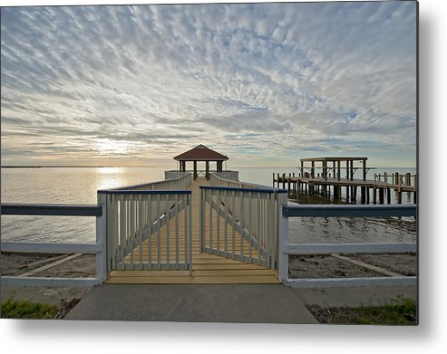 Pier Metal Print featuring the photograph His Mercies Begin Fresh Each Morning by Bonnie Barry