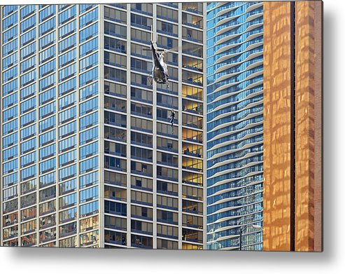 Il Metal Print featuring the photograph Lights - Camera - Action - Movie Backdrop Chicago by Christine Till