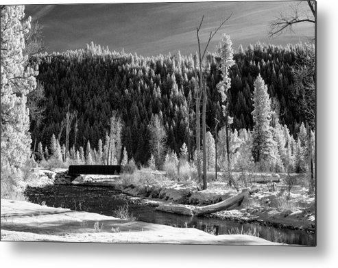 Montana Metal Print featuring the photograph Mountain Bridge by Paul Bartoszek