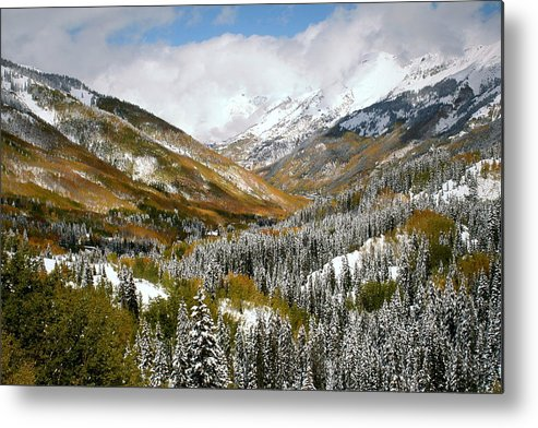 San Metal Print featuring the photograph San Juan Mountains After Recent Snowstorm by Jetson Nguyen