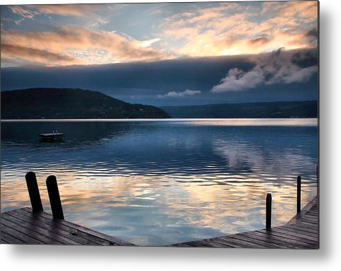 Keuka Lake Metal Print featuring the photograph Storm Clearing by Steven Ainsworth
