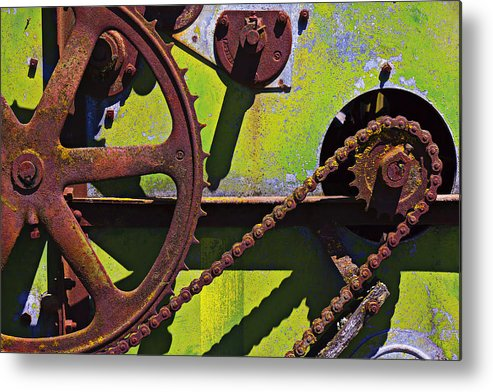 Machinery Metal Print featuring the photograph Machinery Gears by Garry Gay