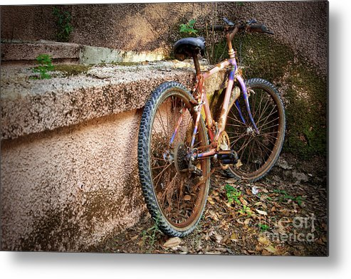 Bicycle Metal Print featuring the photograph Old Bycicle by Carlos Caetano