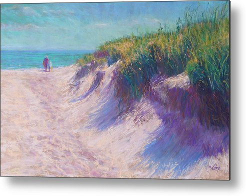 Pastel Metal Print featuring the painting Past The Dunes by Michael Camp