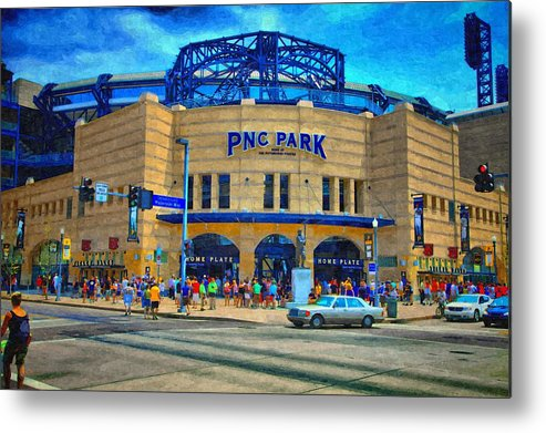 Metal Print featuring the photograph Pnc Park by Matt Matthews