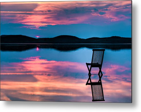 Background Metal Print featuring the photograph Surreal Sunset by Gert Lavsen
