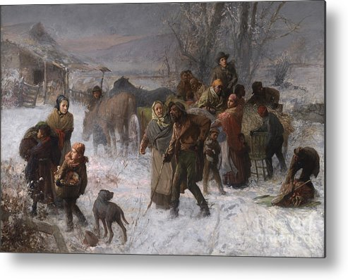 Abolition Metal Print featuring the painting The Underground Railroad by Charles T Webber