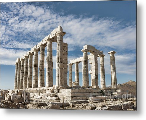 Ancient Metal Print featuring the photograph Poseidon's Temple by Gabriela Insuratelu