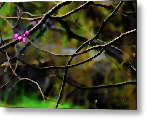 Abstract Digital Art Metal Print featuring the painting First Sign Of Spring by Gerlinde Keating - Galleria GK Keating Associates Inc