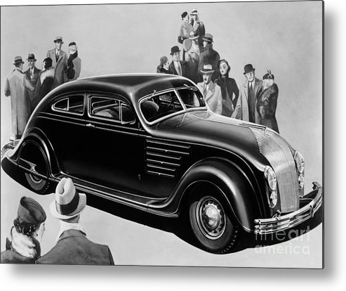 Chrysler Airflow Metal Print featuring the photograph Chrysler Airflow by Photo Researchers