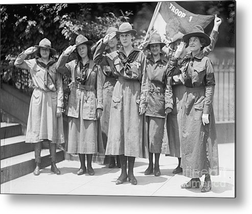 History Metal Print featuring the photograph Juliette Daisy Low, Founder Of The Girl by Photo Researchers