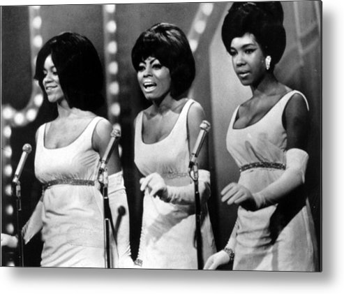 1960s Fashion Metal Print featuring the photograph The Supremes Florence Ballard, Diana by Everett