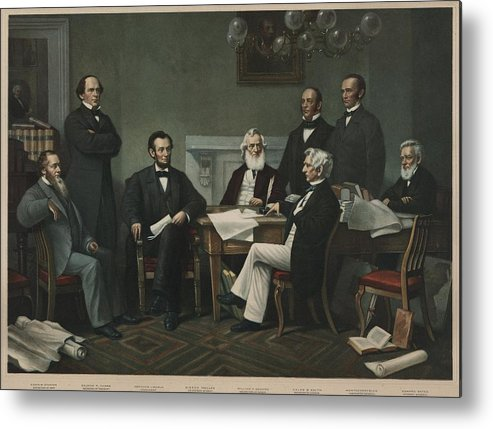 History Metal Print featuring the photograph The First Reading Of The Emancipation by Everett
