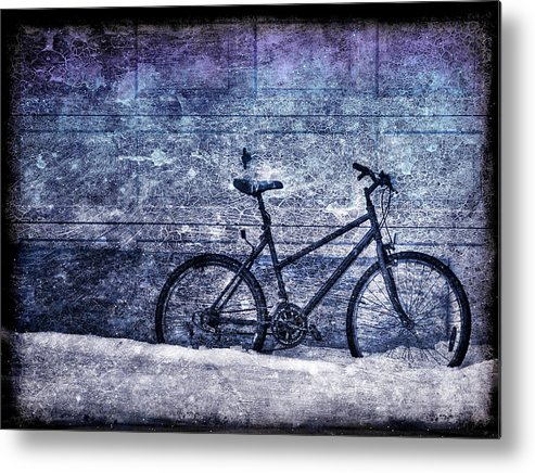Bicycle Metal Print featuring the photograph Bicycle by Evelina Kremsdorf