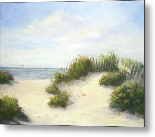 Beach Metal Print featuring the painting Cape Afternoon by Vikki Bouffard