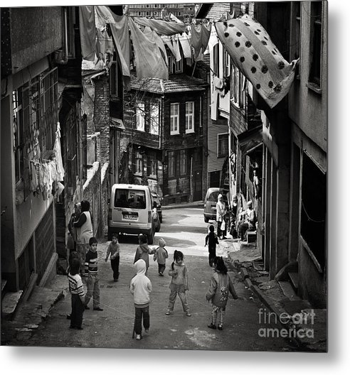 Istanbul Metal Print featuring the photograph No Nintendo For Them by Michel Verhoef