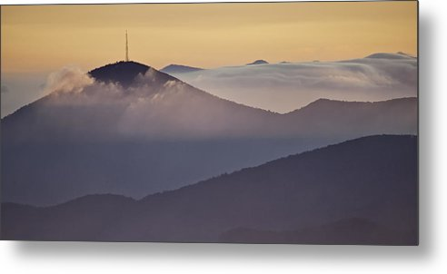 Parkway Metal Print featuring the photograph Mount Pisgah In Morning Light - Blue Ridge Mountains by Rob Travis