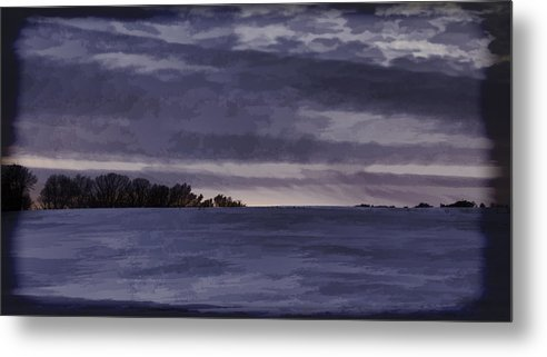 Winter Metal Print featuring the photograph Winter Blues by Thomas Young