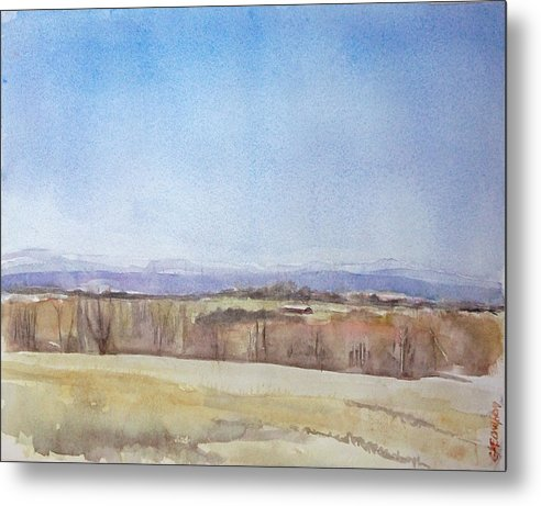 Maine Landscape Metal Print featuring the painting Peeper Season by Grace Keown