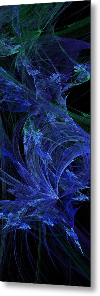 Fractal Metal Print featuring the digital art Blue Breeze by Andee Design