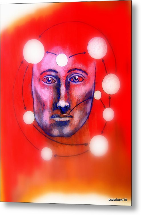 Cathartic Reaction Metal Print featuring the digital art Cathartic Reaction by Paulo Zerbato