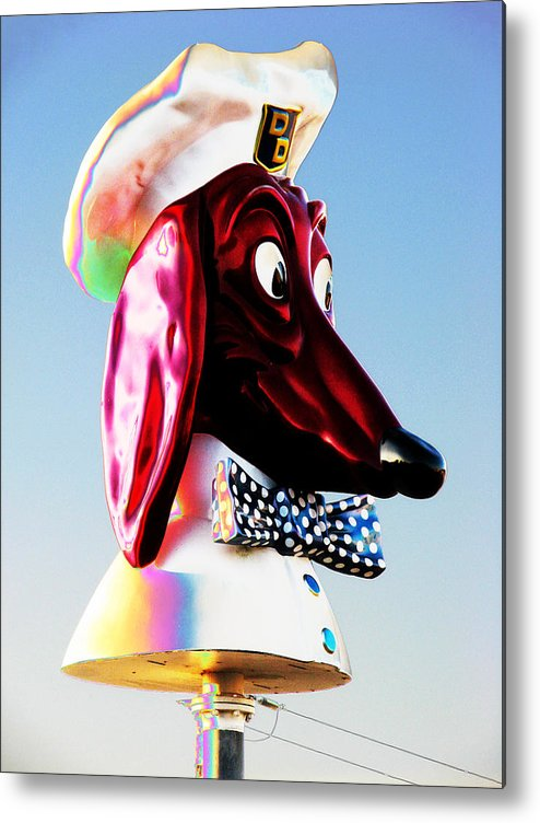 Doggie Metal Print featuring the photograph Doggie Diner Sign by Samuel Sheats