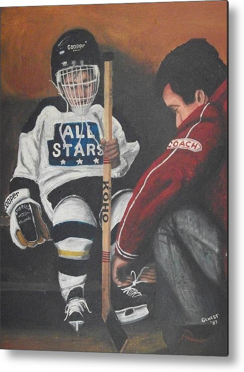 Boy Metal Print featuring the painting Nice And Tight by Ron Genest