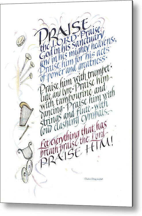 Achievement Metal Print featuring the painting Praise The Lord by Judy Dodds