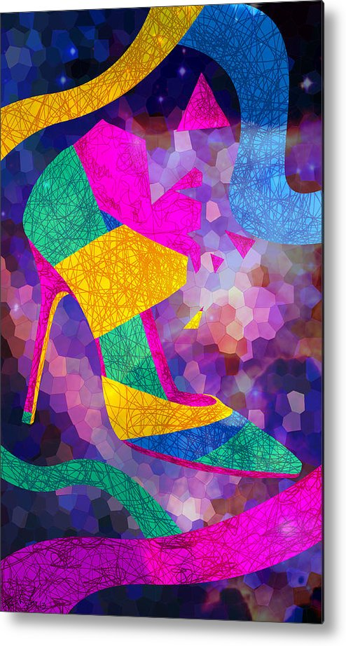 High Heels Metal Print featuring the drawing High Heels On Ropes by Pierre Louis