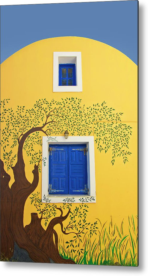House Metal Print featuring the photograph Decorated House by Meirion Matthias