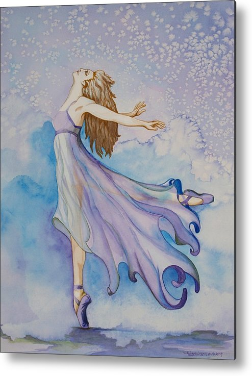 Ballet Dancer Metal Print featuring the painting Ballerina Performs by Joyce Hutchinson